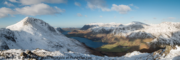 Buttermere from Haystacks Canvas print by John Ealing