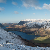 Buy canvas prints of Buttermere from Haystacks by John Ealing