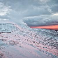 Buy canvas prints of Ingleborough Sunset by John Ealing