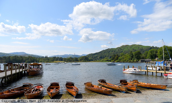Ambleside on Windermere Canvas print by Terry Hunt