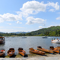 Buy canvas prints of Ambleside on Windermere by Terry Hunt