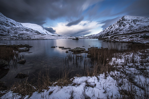 Serenity at Llyn Idwal  Framed Mounted Print by Chris Evans