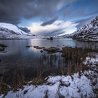 Buy canvas prints of Serenity at Llyn Idwal  by Chris Evans