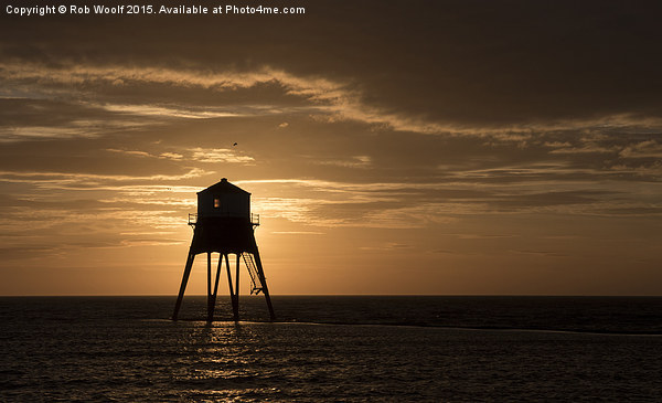 Morning at Dovercourt Bay Canvas print by Rob Woolf