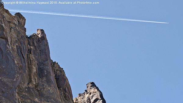 Plane overhead at Smith Rock Canvas print by Wilhelmina Hayward