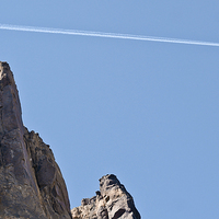 Buy canvas prints of  Plane overhead at Smith Rock by Wilhelmina Hayward