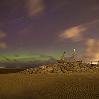 Buy canvas prints of Hoylake Northern Lights by David Chennell