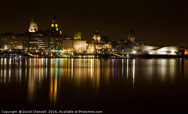 Liverpool Cityscape  Canvas print by David Chennell