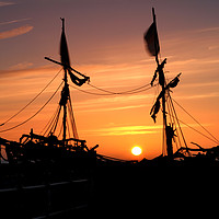 Buy canvas prints of Grace Darling Pirate Ship   by David Chennell