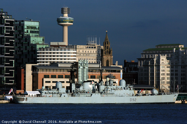 HMS Liverpools Final Visit To Liverpool  Canvas print by David Chennell