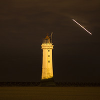 Buy canvas prints of New Brighton Lighthouse by David Chennell