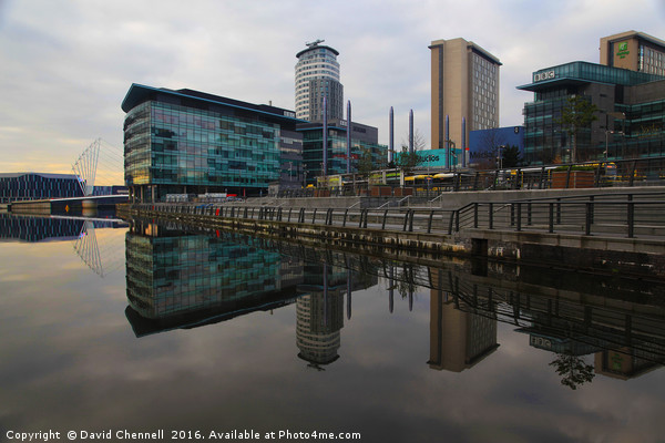 Salford Quays Reflection   Canvas print by David Chennell