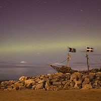 Buy canvas prints of Wirral Aurora by David Chennell