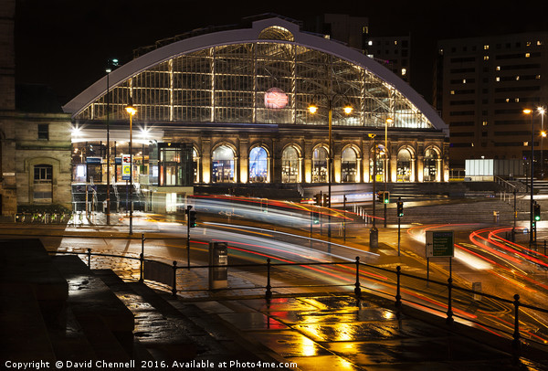Lime Street Station Liverpool  Canvas print by David Chennell
