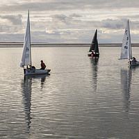 Buy canvas prints of Calm Water Sailing by David Chennell