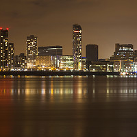 Buy canvas prints of Liverpool Cityscape by David Chennell