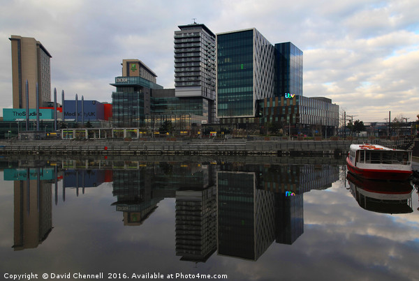 Media City  Canvas Print by David Chennell