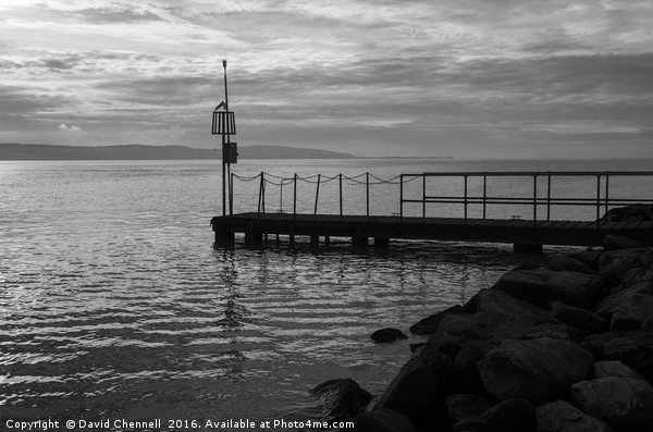 West Kirby Jetty Canvas Print by David Chennell
