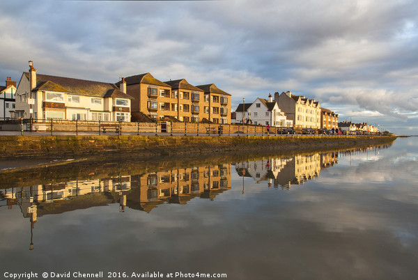 West Kirby Marine Lake   Canvas print by David Chennell