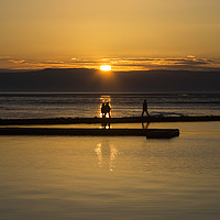 Buy canvas prints of Sunset Stroll  by David Chennell