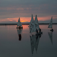 Buy canvas prints of Sailing The Sunset by David Chennell