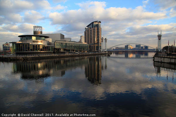 Salford Quays   Canvas print by David Chennell