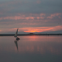 Buy canvas prints of Fire Sky Sailing by David Chennell