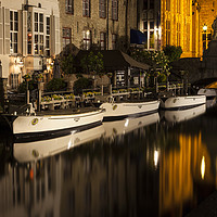 Buy canvas prints of Bruges Canals  by David Chennell