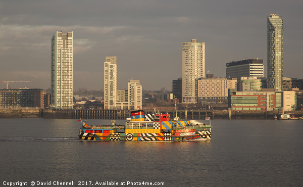 Mersey Ferry Snowdrop Canvas print by David Chennell