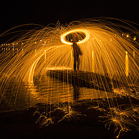 Buy canvas prints of Wire Wool Spinning   by David Chennell
