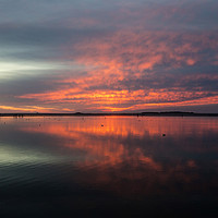 Buy canvas prints of West Kirby Sunset Reflection   by David Chennell