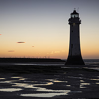 Buy canvas prints of Perch Rock Lighthouse  by David Chennell