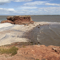 Buy canvas prints of Hilbre Island High Tide  by David Chennell