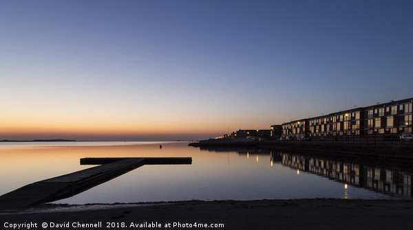 West Kirby Sunset Reflection   Canvas print by David Chennell