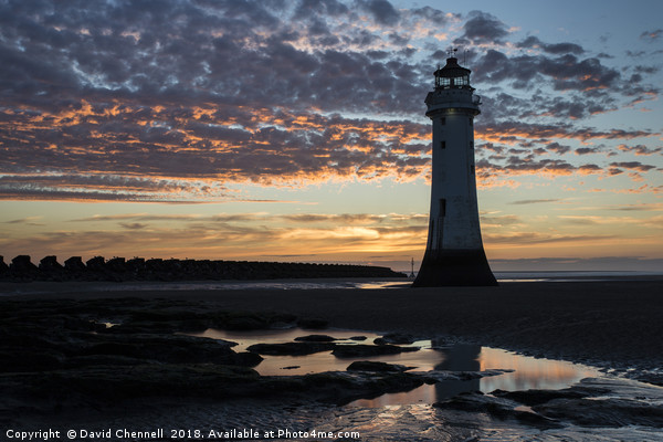 Perch Rock Lighthouse   Canvas print by David Chennell