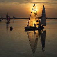 Buy canvas prints of Sunset Sailing     by David Chennell