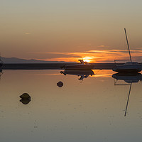 Buy canvas prints of Meols Sunset Reflection by David Chennell