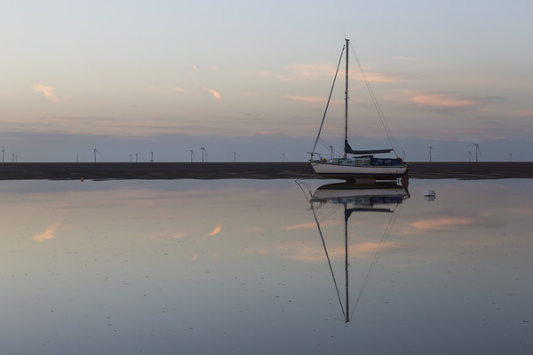 Meols Tidal Reflection Canvas print by David Chennell