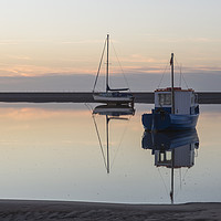 Buy canvas prints of Meols Tidal Reflection  by David Chennell