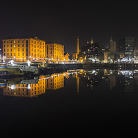 Buy canvas prints of Royal Albert Dock Reflection by David Chennell
