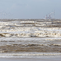 Buy canvas prints of Wallasey White Horses by David Chennell