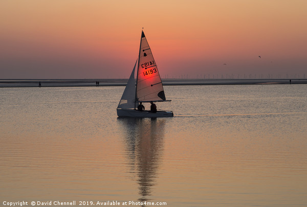 Sailing The Sunset Canvas print by David Chennell