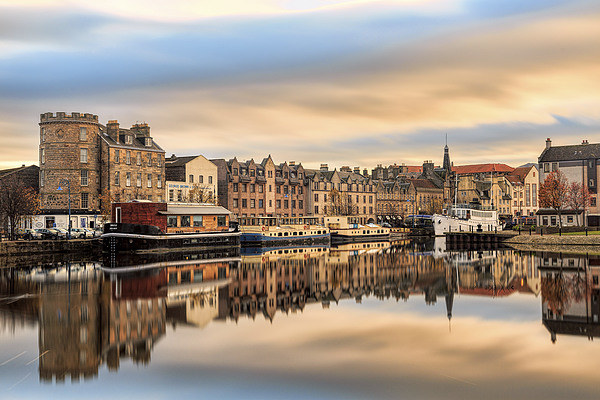 Autumn Colours, the Shore in Leith Canvas Print by Miles Gray