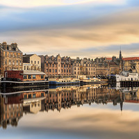 Buy canvas prints of Autumn Colours, the Shore in Leith by Miles Gray