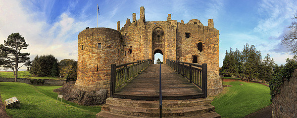 Dirleton Castle Panorama Canvas Print by Miles Gray