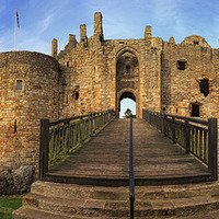 Buy canvas prints of  Dirleton Castle Panorama by Miles Gray