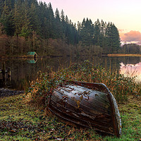 Buy canvas prints of Sunrise over Loch Ard by Miles Gray