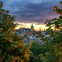 Buy canvas prints of The City of Edinburgh (Portrait) by Miles Gray