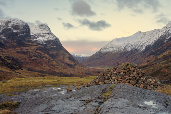 The Three Sisters of Glencoe Canvas Print by Miles Gray