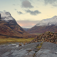 Buy canvas prints of The Three Sisters of Glencoe by Miles Gray
